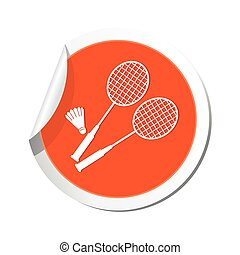 Map pointer with badminton icon