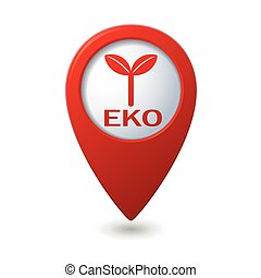 Map pointer with Eco icon
