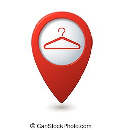 Map pointer with hanger icon