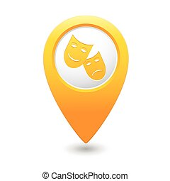 Map pointer with theater icon