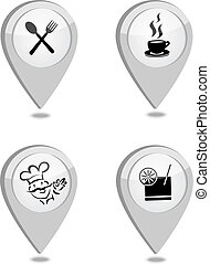 Map pointers restaurant