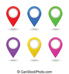 Map Pointers Vector Illustration