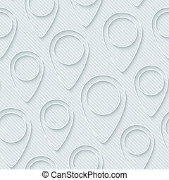 Map pointers walpaper. 3d seamless background. Vector EPS10.