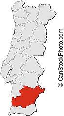 Map - Portugal, Beja