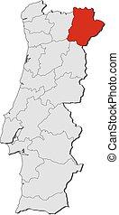 Map - Portugal, Braganca