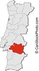 Map - Portugal, Evora