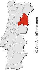 Map - Portugal, Guarda