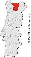 Map - Portugal, Vila Real