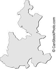 Map - Puebla (Mexico) - Map of Puebla, a province of Mexico.