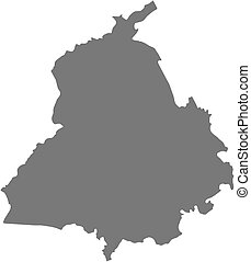 Map - Punjab (India) - Map of Punjab, a province of India.