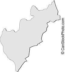 Map - Queretaro (Mexico) - Map of Queretaro, a province of...