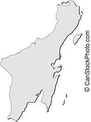 Map - Quintana Roo (Mexico) - Map of Quintana Roo, a...
