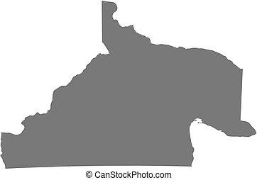 Map - Rio Negro (Argentina) - Map of Rio Negro, a province...
