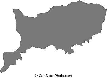Map - Rio Negro (Uruguay) - Map of Rio Negro, a province of...