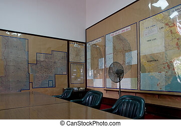 Map room at the Reunification Palace in Ho Chi Minh City