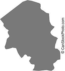 Map of Santa Barbara, a province of Honduras.