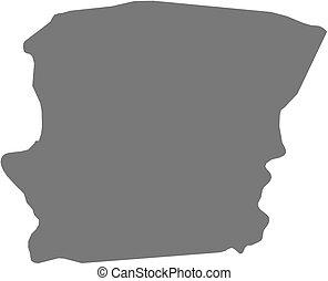 Map - Saramacca (Suriname)