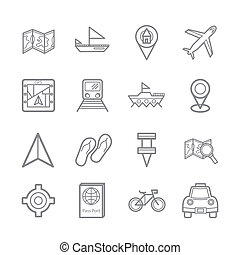 map signal icons eps.10