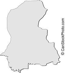 Map - Sindh (Pakistan)