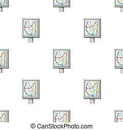 Map, single icon in outline style.Map, vector symbol stock illustration web.