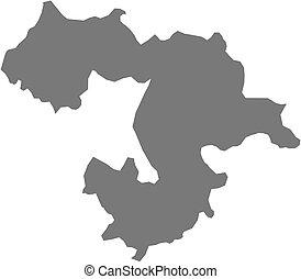 Map - Sofia Province (Bulgaria) - Map of Sofia Province, a...