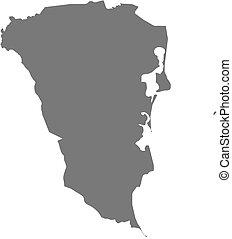 Map - South Caribbean Coast Autonomous Region (Nicaragua)