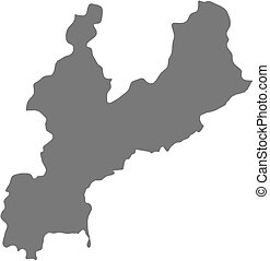 South and north korea map Highly detailed vector map of vectors