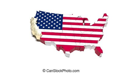 map., staat, politiek, usa., california.