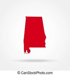 map state of Alabama