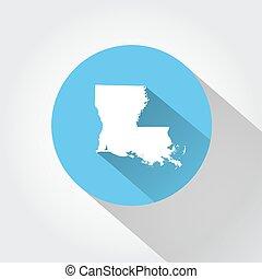 Map state of Louisiana