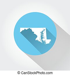 Map state of Maryland