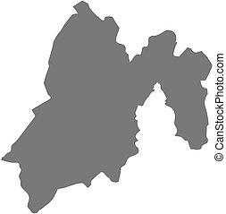 Map - State of Mexico (Mexico) - Map of State of Mexico, a...