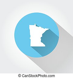 Map state of Minnesota