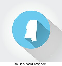 Map state of Mississippi