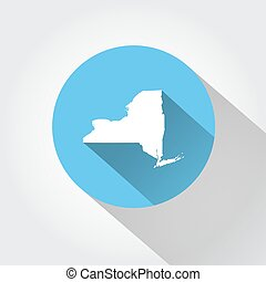 Map state of New York