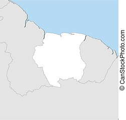 Map - Suriname