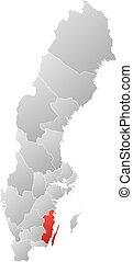 Map - Sweden, Kalmar County