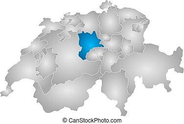 Map - Swizerland, Lucerne