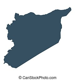 Map Syria geographical political on a white background...