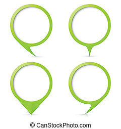 Map text marker - Green map text marker. Illustration for...