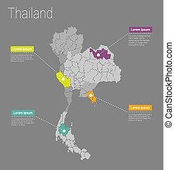 Map Thailand i concept.