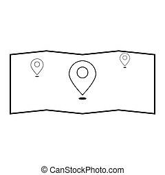 Map the black color icon .