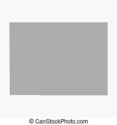 Map the State of Colorado in gray on a white background