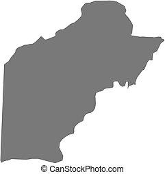 Map - Toledo (Belize) - Map of Toledo, a province of Belize.