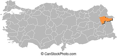 Agri map  Agri (provinces of the republic of turkey) map