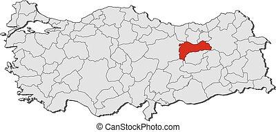 Map - Turkey, Erzincan