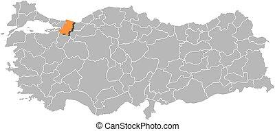 Map of turkey sakarya Map of turkey where sakarya province clip