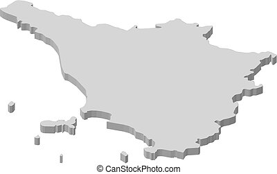 Map tuscany italy Map of tuscany a province of italy vector