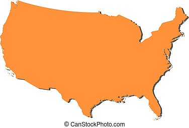 EPS Vector Of United States D Map Very Detailed Vector File Of - Us map eps