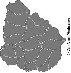 Map salto uruguay Map of salto a province of uruguay vector